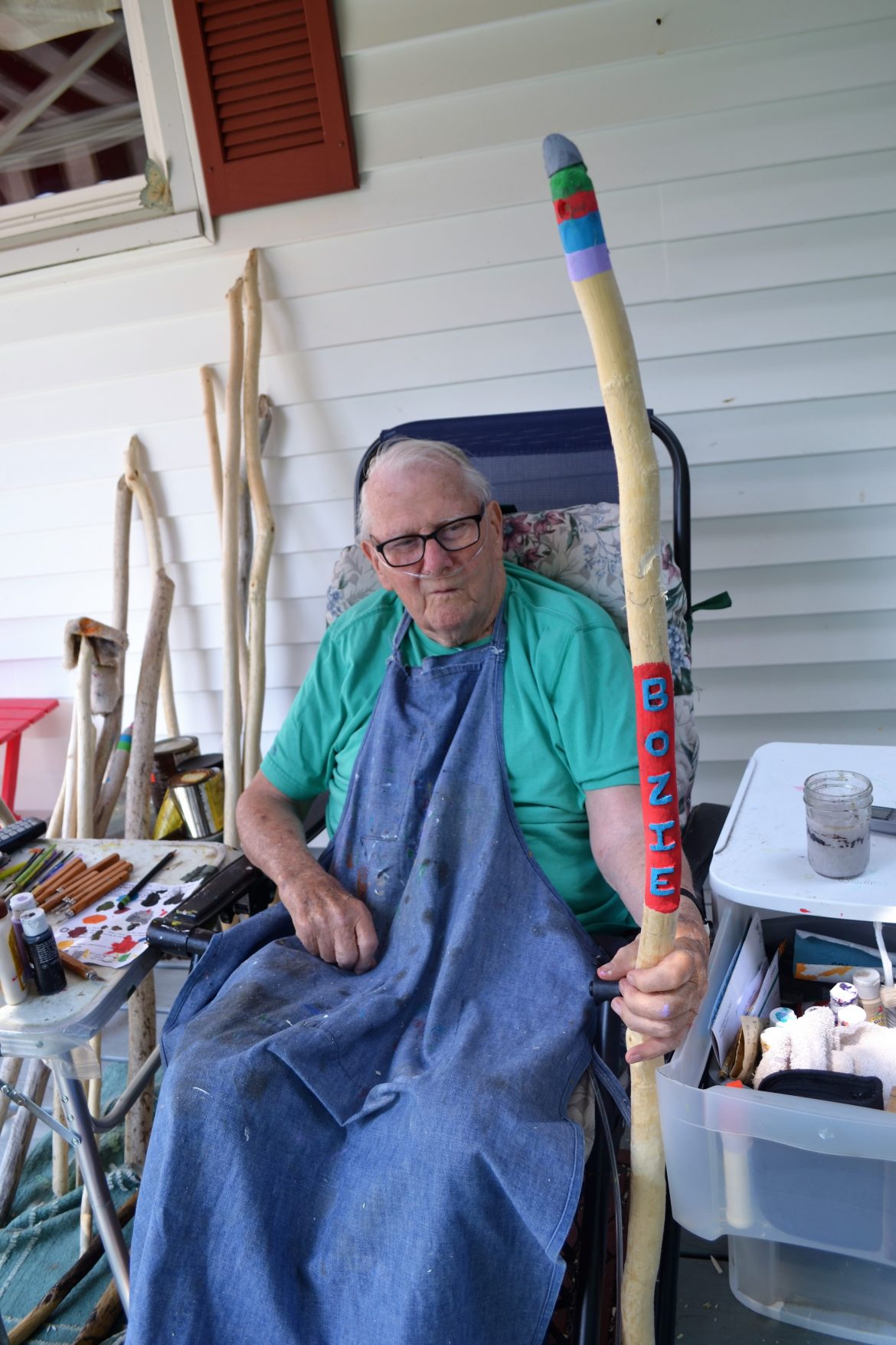 Labor of Love: 90-year-old Lester Sprague Whittles Walking Sticks for Family and Friends